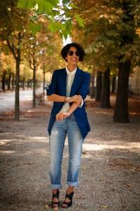 Sewell in Cuffed Jeans & Boy Blazer